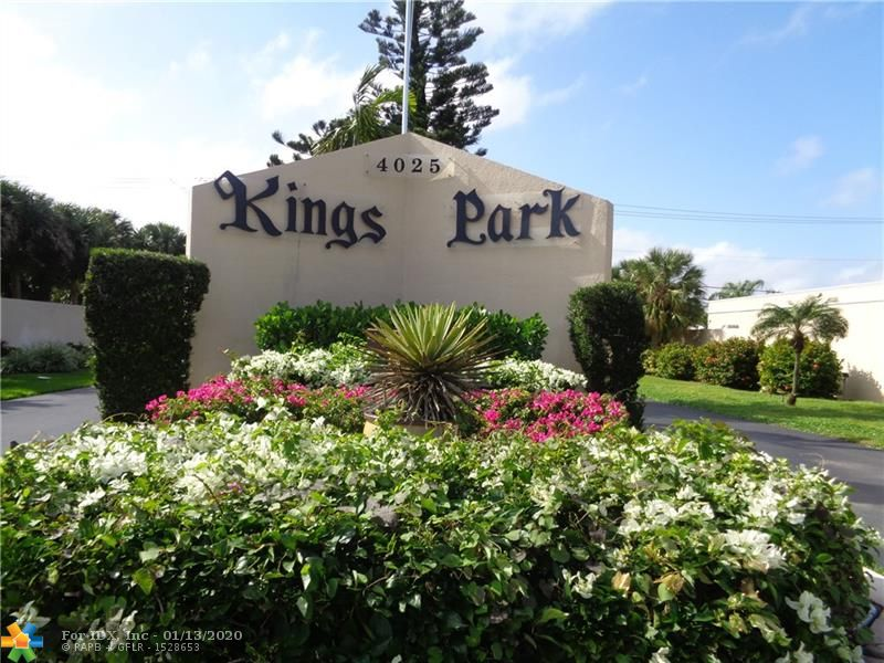 """THIS KINGS PARK 1/1.5 CONDO IS TURNKEY COMPLETE W/ FURNITURE, DISHES & ACCESSORIES AS YOU SEE IT. UNIT LOCATED IN BLD """"B"""" WHICH WAS RE-BUILT FROM THE GROUND UP AFTER A FIRE IN LATE '90's DESTROYED THE ORIGINAL BLD. ITS CONSIDERED NEW CONSTRUCTION UPON REOPENING IN 2000. ENTIRE BLD HAS IMPACT WINDOWS & SPRINKLER SYSTEM. SELLER ADDED TANKLESS HOT WATER HEATER, DISHWASHER & REPLACE AC SYSTEM W/NEW INCL AIR HANDLER IN 2014. SCREENED IN BALCONY, ASSIGNED PARKING SPACE #97. SOME VIEWS OF HEATED POOL & COURTYARD FROM BALCONY & LIVING RM WINDOWS. SAUNA & CABANA BATHS AT POOL AREA. GREAT N. FEDERAL HWY LOCATION NEAR STARBUCKS, SHOPPING & RESTAURANTS. WELL PRICED, TURNKEY CONDO READY FOR MOVE IN, HURRY IT WON'T LAST!"""