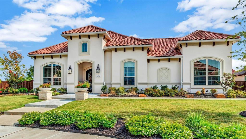 Welcome to 1271 Holford Drive nestled in Phillips Creek Ranch, Frisco. This Meditteranean influenced one story is a true unicorn.