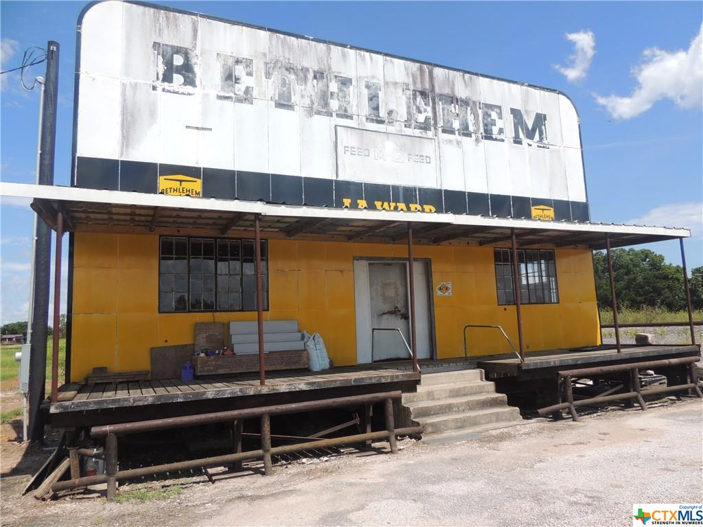 The building was built in 1920. It fronts on State Highway 172 in La Ward and is next to the railroad, but will need a spur. At one time it was a pipe yard and later a feed store. Endless possibilities.