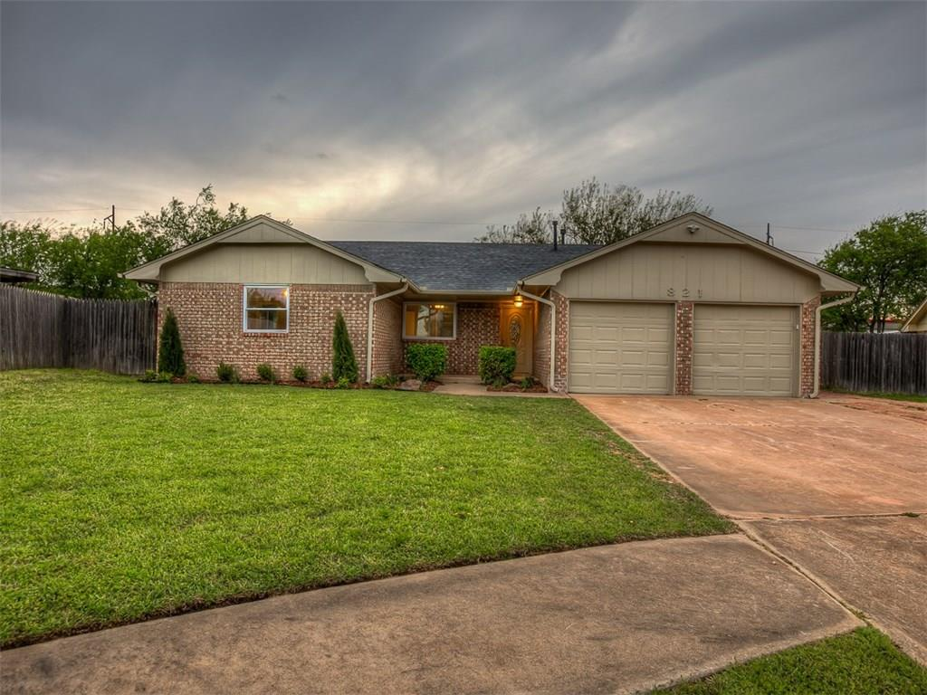 This newly remodeled home is nestled in a quiet cul de sac in sought after Moore Schools. The home has many new features to include brand new roof, energy efficient windows, new flooring throughout, lighting, and more. Spacious living room with vaulted ceilings, cozy fireplace with beautiful brick hearth, and the detailed bookcase for your holiday decorations or favorite books to read by the fire! The large master bedroom with two closets and sprawling picture windows is the perfect retreat after a long day. Escape to the gorgeous master bath that has been completely renovated with a new shower, toilet, plumbing fixtures, flooring, and vanity. The secondary bedrooms are the perfect size and fitted with spacious closets. This charmer is ready to be your HOME. Schedule your showing today before it's gone tomorrow!