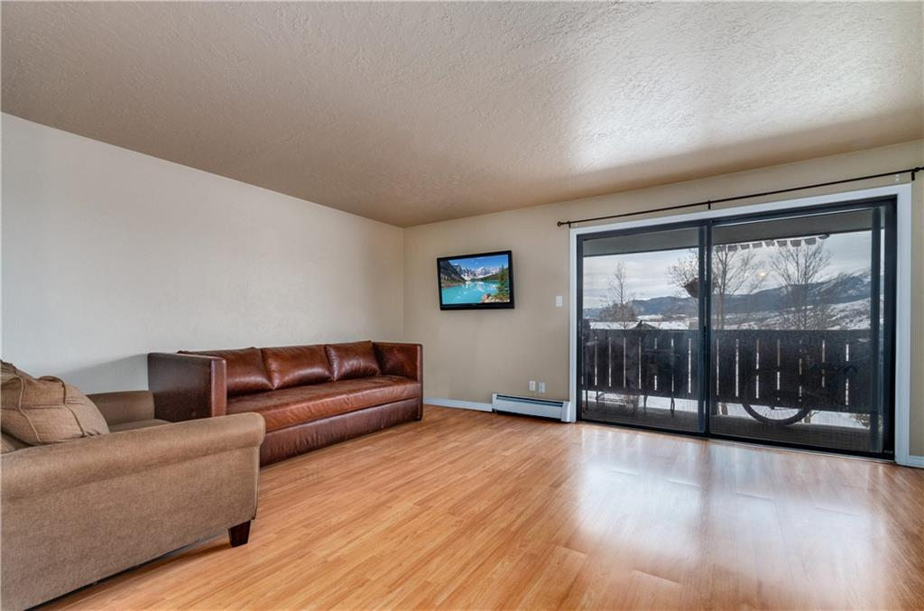 Extremely private & quiet top floor corner condo. NO common walls with any other condos.  Very rare wash/dryer (European style combined in 1 unit approved with HOA -  most others are not approved).  Also included is the twin sofa bed, & wall mounted TV. Great views. Designated parking stop at the door.  Ideal location to enjoy 5 ski resorts & close to Denver. In very good condition.  Clubhouse w/hot tub, pool, tennis courts. Walk to restaurants & more. Note: photos taken before tenant moved in.