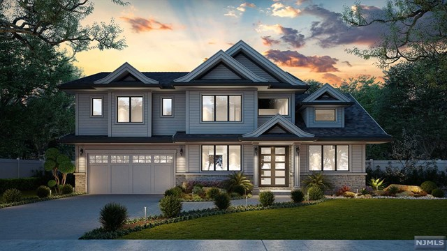 Situated on a flat property this to be built homeof elegant luxury living space plus a finished lower level.  Transitional/ modern with exquisite finishes, open floor plan with stunning Italian made gourmet kitchen and, attached family room with fireplace making this space perfect for everyday living and entertaining. A luxurious master suite with spa-like master bathroom 3 additional bedrooms and 3 full bathrooms complete the 2nd floor. Featuring also a bedroom and a full bath on the first floor and, a bedroom and a full bathroom on the lower level