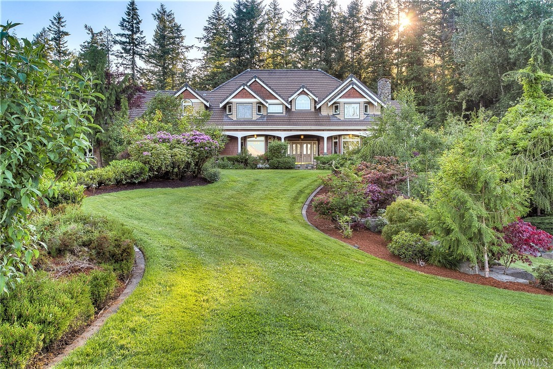 Breathtaking, One of a Kind, Pacific Northwest Estate, set on 260 acres, in the shadow of Mt Rainier. True Northwest Lifestyle. Fly in or drive to this Exceptional Estates Home featuring 5000 sqft(+/-), stunning hardwoods, incredible NW Character in the details, built in pool, 40 Acre private lake, stone bridges, mature forest w/ hiking & ORV trails, Wildlife, Fishing & Fenced Pastures. 2 addi Prvt residences, Airplane Hanger(heated), HeliPad, Private Airstrip, Multiple Garages & Barns on Estate