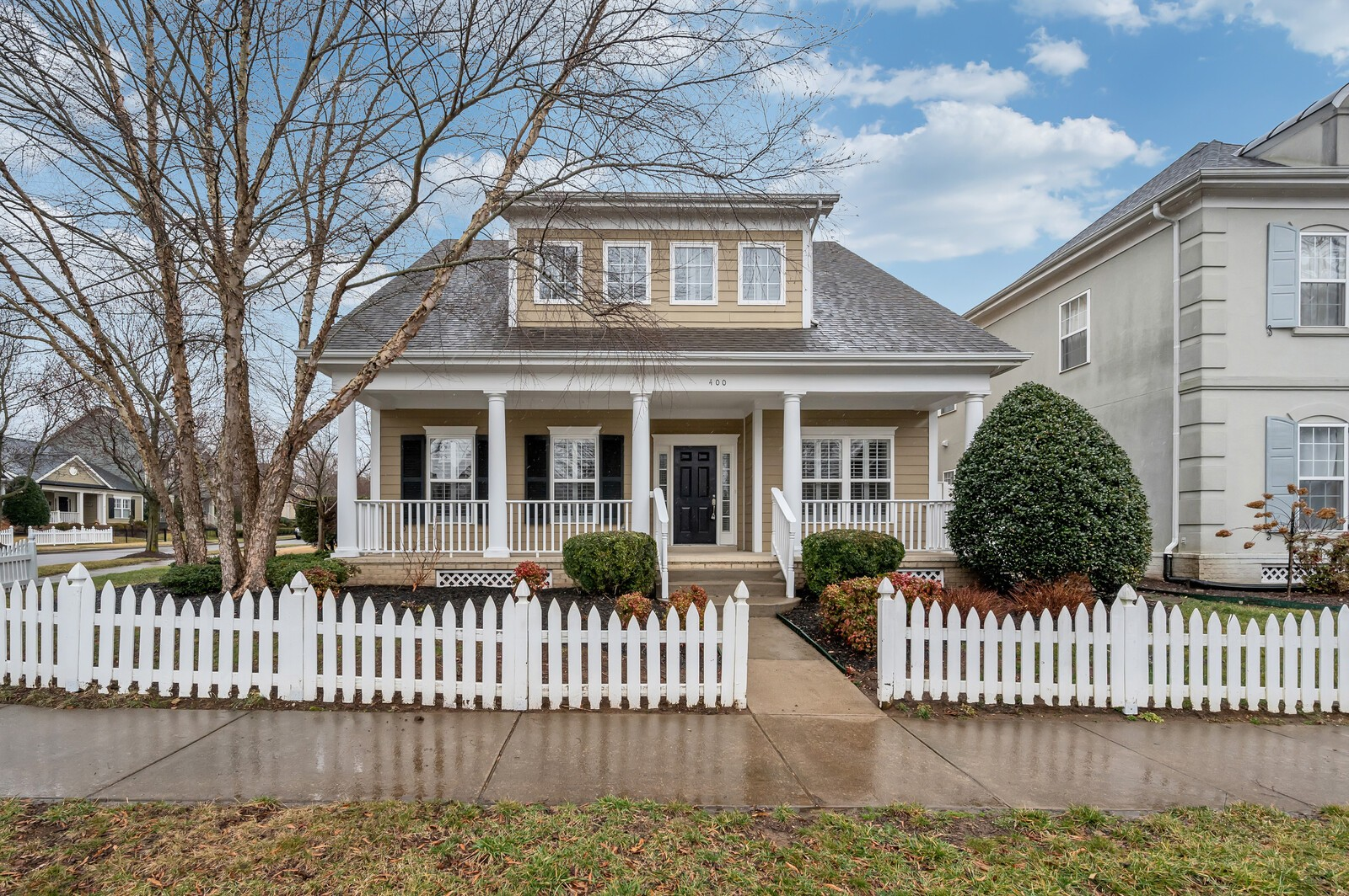 Don't miss this charming Franklin home~ 3 Bedroom~ 2.5 Bath~ Formal dining with wainscotting~ Hardwood floors~ Fresh paint throughout~ New carpet~ Built in's~ Butlers pantry~ Oversized master~ Bonus~ Corner lot~ Detached garage in rear of home with covered walkway~ Fenced back yard