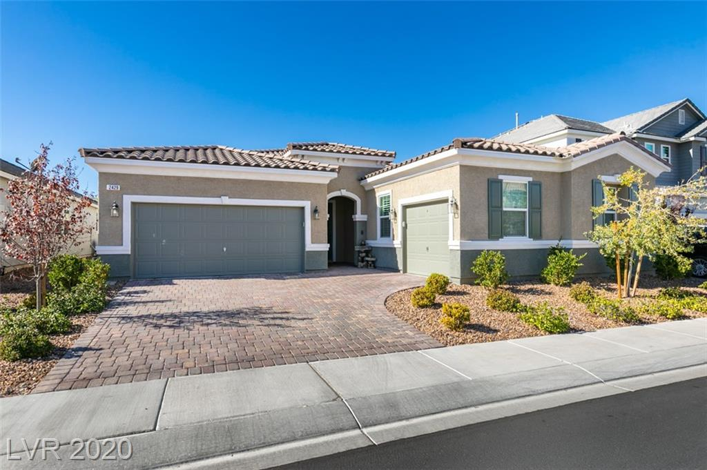 Amazing single story in one of the most popular communities in the Las Vegas Valley! Inspirada offers the active lifestyle you're looking for! Four pools, basketball courts, tennis, skate park, playgrounds and dog parks! This luxurious home offers a rotunda entry way, formal dining room, den and spacious living area! Over $60,000 in upgrades including an additional 7' depth added to the living room and master bedroom! Upgraded cabinets, granite counter tops, paint and flooring! Pool size rear yard with no homes behind you! The natural desert landscape is your view throught the wrought iron rear fence!