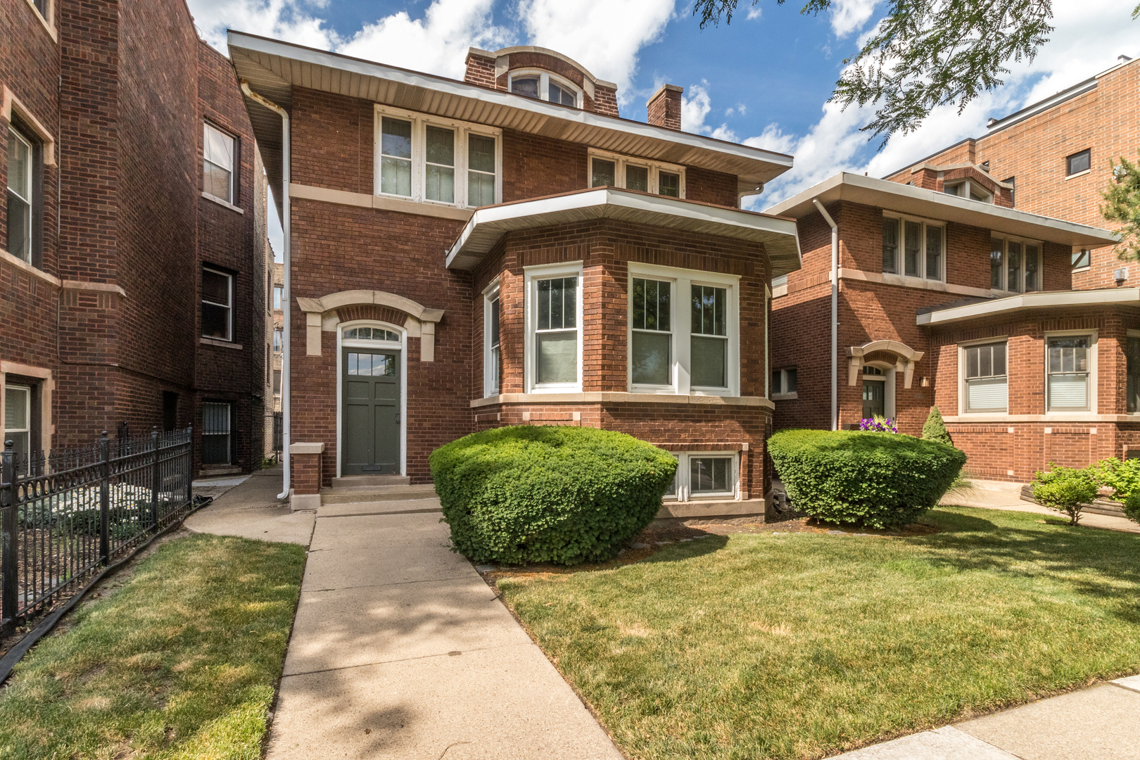 """1ST TIME ON THE MARKET IN OVER 60 YEARS. CUSTOM BUILD BRICK 2-STORY 4 BEDROOM, 1 1/2 BATHROOM DIRECTLY ACROSS THE STREET FROM WINNEMAC PARK. NEW BOILER & A/C INSTALLED IN 2014. ROOF IN 2015. BASEMENT FLOOD GATE INSTALLED IN 2008. OVER 2,400SF WITH ALL BEDROOMS LOCATED ON THE 2ND FLOOR INCLUDING 19X10 MASTER BEDROOM. MAIN LEVEL INCLUDES FORMAL LIVING ROOM (COMPLETE WITH ORIGINAL FIREPLACE AND MANTLE) & ENTRYWAY WITH ORIGINAL STAINGLASS WINDOWS. LIVING ROOM OFFERS CROWN MOLDING/FIREPLACE MANTLE & ROW OF WINDOWS OFFERING TONS OF SUNLIGHT. FORMAL LIVING ROOM JUST OFF THE KITCHEN. KITCHEN HAS 32"""" CABINETS/COOKTOP W/SEPARATE OVEN AND PREP ISLAND. CONCRETE PRIVATE YARD LEADS TO 3 CAR DETACHED GARAGE. BASEMENT IS UNFINISHED. 1ST AND 2ND FLOOR HAVE ORIGINAL HARDWOOD FLOORING. PROPERTY DOES NEED WORK AND WILL BE SOLD IN AS-IS CONDITION."""