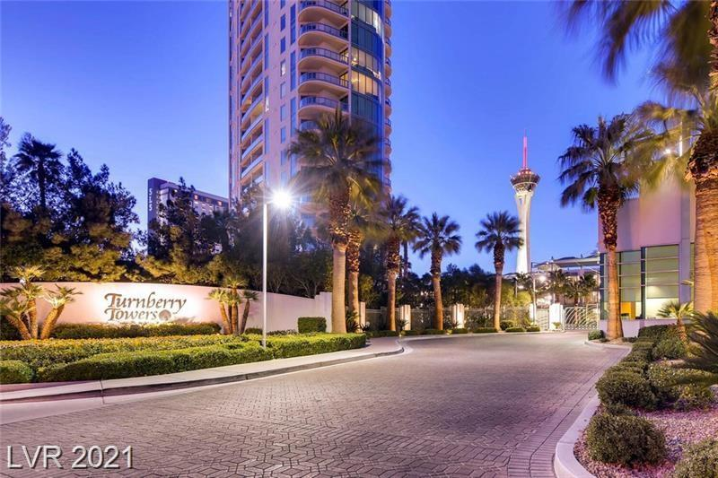 LOCATED IN THE NEWER TURNBERRY TOWER...INCREDIBLE VIEWS FROM THIS 2 BED, 2 BATH CORNER UNIT WITH SOUTHWEST VIEWS OF THE STRIP AND NORTHWEST VIEWS OF THE VALLEY. WELL CARED FOR LUXURY PENTHOUSE STYLE WITH BEAUTIFUL, NEUTRAL TILE FLOORS, INCREDIBLE DESIGNER KITCHEN, AND LUXURIOUS BATHROOMS. THE GROUNDS ARE WELL-KEPT WITH CONCIERGE, VALET, FITNESS FACILITY, ON-SITE STORAGE, AND MORE. DON'T MISS THIS OPPORTUNITY FOR LUXURY HIGH-RISE LIVING.