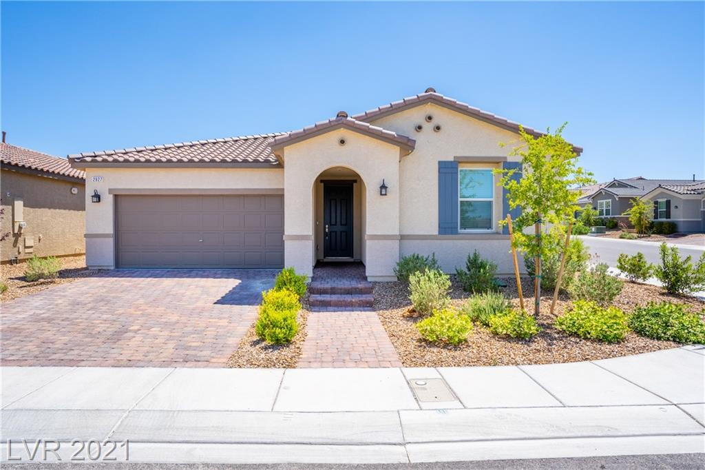 Beautiful Single-Story Home In Inspirada! MOVE-IN-READY! Located In A Quiet Neighborhood On A Corner Lot with Mountain Views! Open Design Kitchen Has Granite Countertops, HUGE Island With Sink, And Stainless Appliances. Gorgeous Light Fixtures Throughout. Master Bedroom/Bath With Two Walk-In Closets, Dual Sinks, and Separate Tub and Shower. Garage Has Epoxy Floors And Spacious Overhead Storage Shelves. Tankless Water Heater. Spacious Backyard With Fully Covered Patio...And Much More!!!