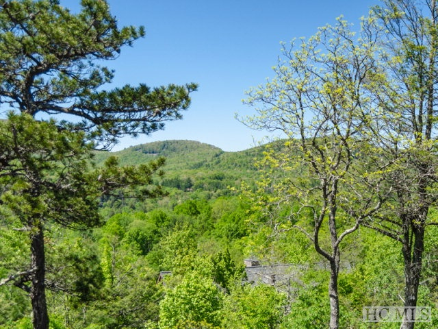 One of the last available view lots inside Cullasaja Club of Highlands.  Easy building site.
