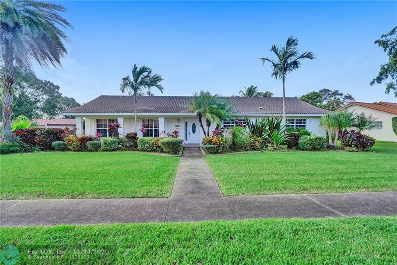 SIMPLY THE BEST OPPORTUNITY TO OWN IN ONE OF PLANTATION'S MOST SOUGHT AFTER COMMUNITIES OF EL DORADO ESTATES.  THIS 4/2.5 CUSTOM DESIGN HOME RESIDES ON ONE OF THE LARGEST LOTS ENCOMPASSING THE ENTIRE CORNER OF SW 6TH CT CLOSE TO 20,000 SQUARE FEET.  HOME IS AGGRESSIVELY PRICED TO ALLOW FOR YOUR PERSONAL TOUCHES AND FEATURES LARGE BEDROOMS AND OPEN KITCHEN WHICH LEADS TO NOT ONE BUT TWO FAMILY ROOMS.  FOURTH BEDROOM COULD ALSO BE DEN/OFFICE WITH DOUBLE SIDED BRICK FIREPLACE.  FULL IMPACT WINDOWS AND DOORS, LARGE INTERIOR UTILITY WITH FULL SIZE WASHER, DRYER AND LAUNDRY TUB PLUS HALF BATH.  HUGE FLORIDA ROOMS WITH 4 CLOSETS LEAD TO SPACIOUS BRICK PAVER PATIO WITH CUSTOM DESIGNED POOL PLUS SUN/BBQ DECK.  TAKE ADVANTAGE OF THIS GREAT BUYING OPPORTUNITY BEFORE SOMEONE ELSE DOES.