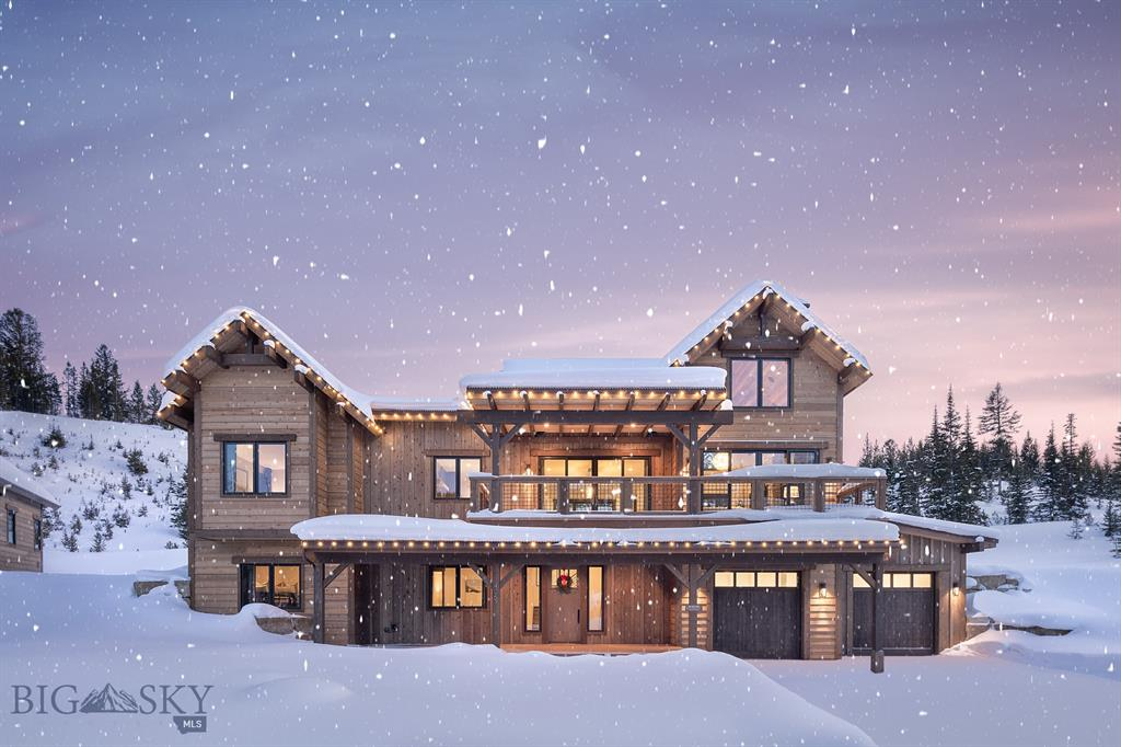 Lot 40 is a Mountainside floor plan, Birch finish, with 5 bedrooms and 5 bathrooms. The ski access into Highlands and the Highlands and Cabin Chair Lifts make this neighborhood the ultimate in ski in/ski out! Highlands is a Southern facing ski/in ski/out neighborhood surrounded by old-growth pines and set atop a ridge overlooking the surrounding mountains, Yellowstone National Park, the Clubhouse and the under construction Montage Hotel. Homes in Highlands are classic alpine design re-imagined with clean, modern lines and open interior spaces creating warm and elegant ski chalets. Walking distance to skiing, golf, hiking, mountain biking, snow shoeing, cross country skiing, alpine downhill skiing and the Clubhouse (dining, bar, pool, hot tubs, health club). Golf or Ski Social membership is available with this property, purchase of membership deposit at Spanish Peaks Mountain Club required simultaneously at closing of real estate.