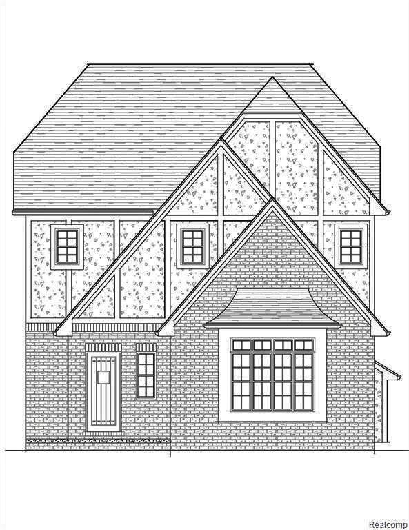 """To be built....Another great Hillan Home! Location . . . Location! Located in the heart of all downtown Royal Oak has to offer. Quick stroll to restaurants, movies, shops & bars! 3 bedroom brick & stucco Tudor with great open floor plan. Living room with gas fireplace; great """"center of the house"""" study or formal dining room; bright kitchen with oversized island, granite tops, custom cabinets & great walk-in pantry; 1st floor all field finished hardwoods; heavy trim package; upgraded lighting; huge master suite with private bath featuring both tub & stand up shower stall with tile to ceiling, dual vanity sinks with granite tops, 2nd floor laundry; 9' 4"""" basement ceiling, sprinklers, sod & landscape. Make all your own selections. 10 year home warranty! Other lots available."""