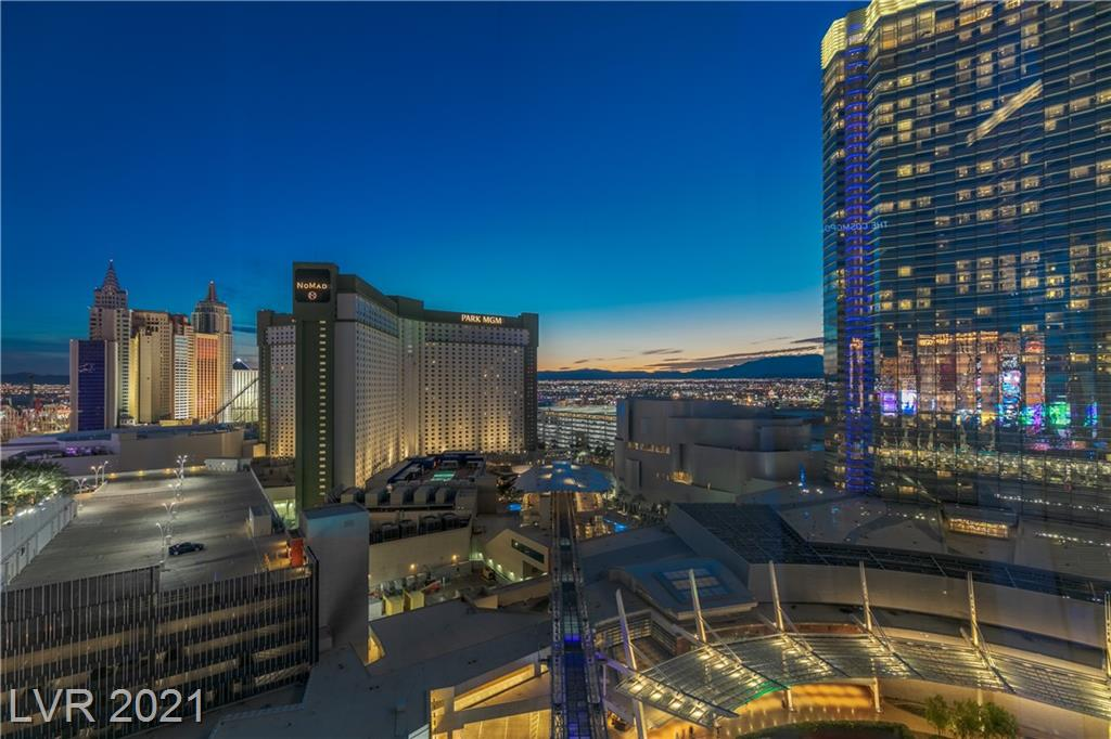Experience World Class Las Vegas Living in this Upgraded Two Bedroom Condo in Veer Towers. Located in City Center, the second most expensive development in the USA, this High Rise Includes 24 Hour Valet Parking, Concierge, Security, Rooftop Pool and Spa with City Views, Top Floor Gym and Lounge with Bellagio Fountain Views and Strip Views, Billiards Room, Business Center, and is Surrounded by the Best-in-Class Dining, Shopping, and Entertainment in the World. Walking Distance to the Entire Las Vegas Blvd/Strip and walking distance to T-Mobile Arena where you can watch your favorite Concerts, Ultimate Fighting Championship (UFC), National Hockey League (NHL), and many more events. Less than 10 minutes from the Airport and central access to all of Las Vegas. This Location is truly one of a kind!