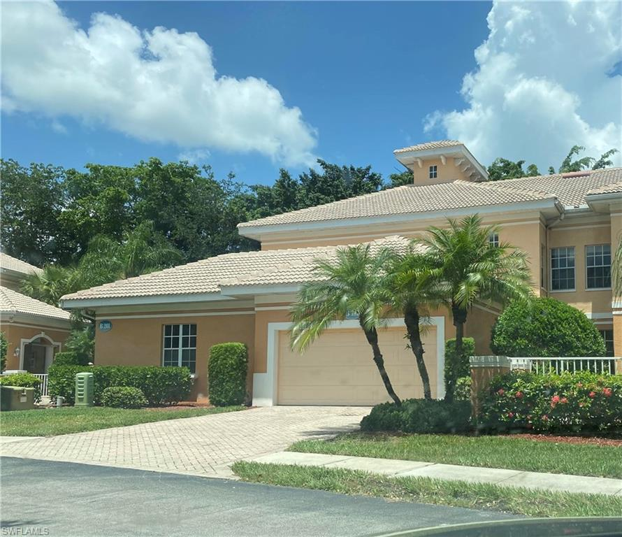 Great location for the Only active adult retirement community in SWFL with equity. Come see this beautiful unit across the street from the 23,000 sq.ft. Clubhouse in a 55 plus community that offers Independent Living and Assisted Living and a professionally staffed 24 hours a day. When you enter through the courtyard of this coach home, you know this is some place special. Light, bright and spacious with 10 ft. ceilings, all new laminate wood flooring in all 3 bedroom and living rooms also all new stainless steel appliances and interior is freshly painted. Aston Gardens is loaded with amenities all which are geared toward Maintenance Free Lifestyle.. The monthly fees include all utilities (except phone and internet),weekly house keeping and transportation to appointments, shopping.