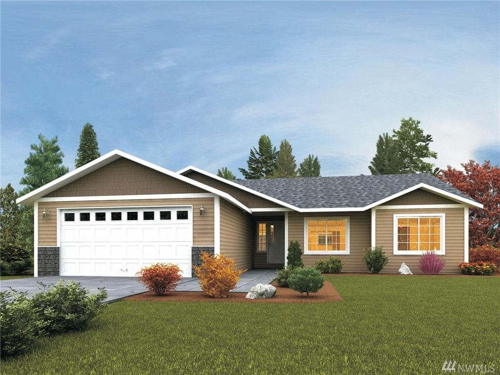 Beautiful and desired new construction rambler on it's own land! This brand new home will boast 3 spacious bedrooms and two full bathrooms for all the room you will need. Upgraded laminate floors, quartz countertops and all the bells and whistles you would want in your home. Conveniently located to I-5 with easy access to Tacoma.  This quiet location is everything you want and more. You won't want to miss this opportunity!