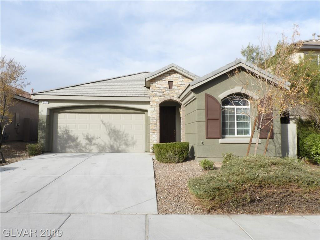Summerlin Single story home w/3 bed, 2 bath & 2 cars garage. Skylight on hallway, New two tone paint, New paint on cabinets, New laminate flooring, New kitchen granite counter top, stainless sink & faucet, New stainless Stove, Refrigerator, Dishwasher & Microwave. Master bedroom separated w/other 2 beds. Backyard w/covered patio. Super convenient location, walking distant to park, close to school, freeway, shopping, restaurant & Red Rock hotel.