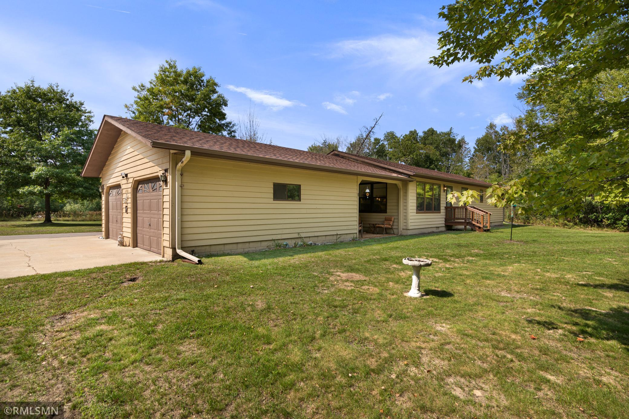 This 1 level, 3 bedroom, 2 bath home sits on 3.75 beautiful acres and offers main-floor laundry, private master bath, updated interior, large deck, covered porch, and loads of seclusion just mere minutes from town.  Enjoy the Paul Bunyan Trail right out your back door!  Don't miss this rare opportunity!