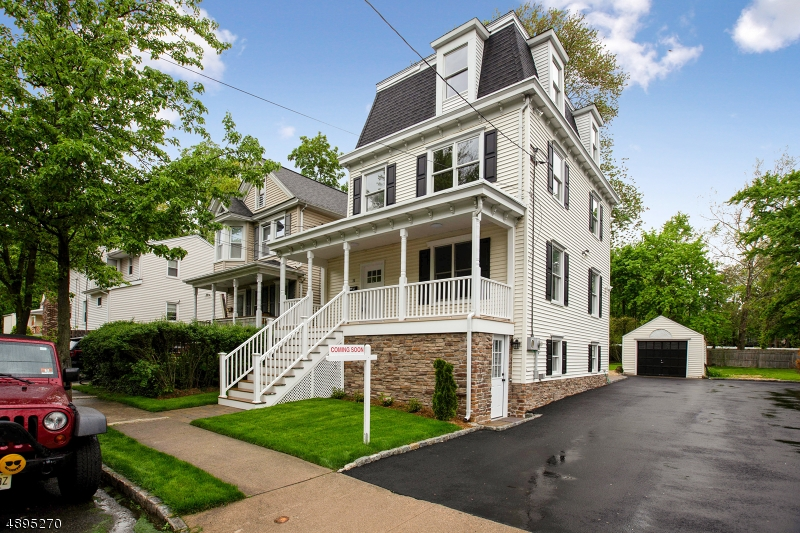 """FULLY RENOVATED Colonial in the heart of Morristown! ALL NEW 2019 Feat. HDWD, Kitchen w/Granite & SS applcs. Covered front Porch, Trex Deck off Kitchen w/Paver Patio & Finished W/O Basement! """"Master Suite"""" on 2nd floor w/ adjacent room that can function as sitting room, dressing area, nursery, etc... Renovated full baths on 2nd and 3rd floors and Powder room on main level ALL with modern tile, fixtures and granite vanities. 2nd floor Laundry. Finished, walk-out Basement can serve as another bedroom with own point of entry to driveway or Rec room. Deck, patio, Porch & spacious yard all perfect for Entertaining!! Enjoy summer days with convenience of Walking Distance to shops & restaurants. Less than 1-mile walk to Morristown Train & close proximity to hospital, major transportation & highways."""