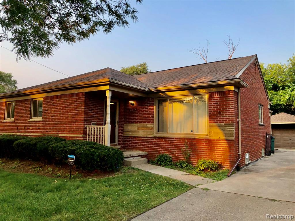 Well maintained large Oak Park solid brick ranch on a quiet tree lined street north of 9 mile. 3 bedroom, 3 bathroom with refinished white oak hardwood floors, kitchen featuring thick granite countertops and barstool seating area with new 100% waterproof Luxury Vinyl Tile flooring, and recessed lighting throughout. Central Air, large living room, dining room and den. Large finished basement with waterproof system, recessed lighting, bathroom, full wet bar with custom wine glass rack. Large backyard with large deck and stone paved patio privately fenced perfect for entertaining and family gatherings. Home has ample closets, storage spaces and garage.