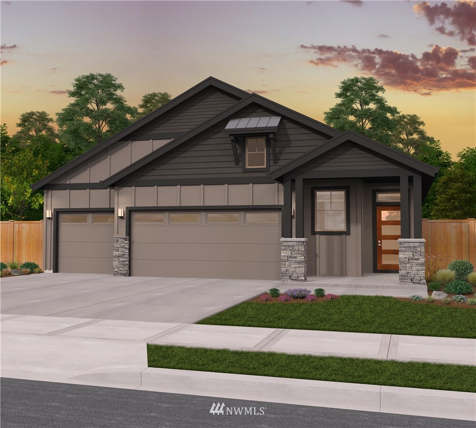 The TETON by Garrette Custom Homes is the smaller rambler you have been trying to find! This 3 BR/2 Bath rambler near American Lake has a highly efficient design that includes a 3 car garage & a 10 x 18 covered patio. The open floor plan's large Great Room is a fabulous entertainment area & is adjacent to the oversized Kitchen island. The Dining Room is well separated from the Kitchen and Great Room areas. You'll love the Master Suite with its TWO walk in closets! Expected completion in Fall!