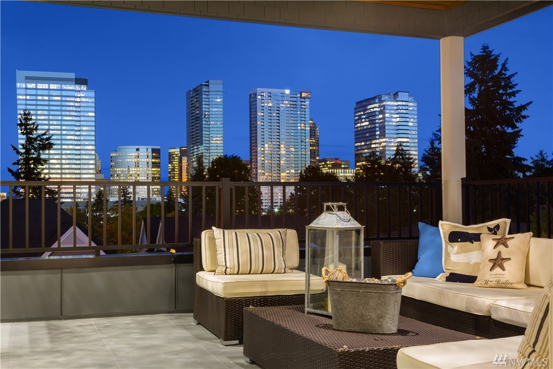 J & D Homes presents New Construction in Downtown Bellevue! Steps away from urban amenities, shopping, dining & parks. Elegantly designed home combines finest details & finishes w/ high quality construction. Two-story entry captivates w/ statement staircase & designer chandelier. Main level second master suite! Ultimate recreational level w/ views! Enjoy View Veranda & admire sparkling city lights & beautiful northwest scenery. Award winning school district w/ top private schools w/in minutes!