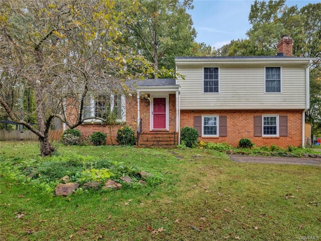 Welcome home to this inviting Tri-level in Tuckahoe Village West! Conveniently located just 8 mins to 288 or Short Pump Town Center and 12 mins to 64. As you enter you'll notice the beautiful hardwoods throughout, updated kitchen with Granite countertops and Stainless Steel appliances including a double oven and gas range. The island's countertop is made from gorgeous Pecan wood and has an overhang for seating. There are 3 spacious bedrooms and 2 full baths on the 2nd level and a 4th bedroom in the finished walk-out basement as well as a 1/2 bath. Cozy up together in the family room around your wood burning stove-with blower. From there, head out to your deck overlooking your huge fenced in backyard with just the right amount of shade! This must-see wont last!
