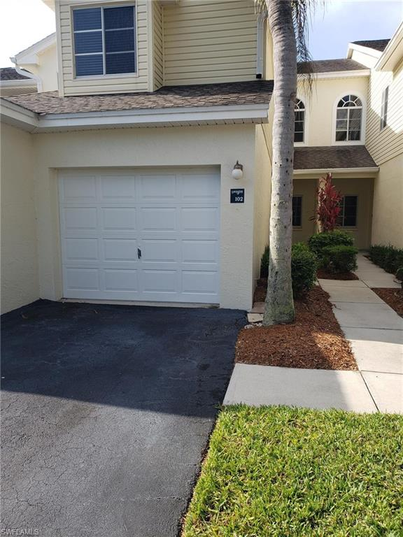 C2019 - This 2 bedroom 2 bath unit is tucked away in the back of the community with a wide lake view. It has an attached one car garage.  The home features tile on the diagonal in the main areas and second bathroom.  Electric storm shutters are on the lanai and manual on the master bedroom.  Lakeside is centrally located and has tennis courts, clubhouse and resort style pool.  Shopping, dine and the beach are nearby.