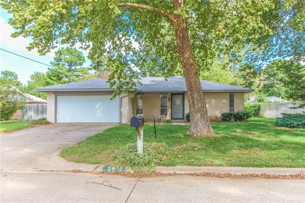 Great home in wonderful neighborhood. Near schools, shopping-3 bed 2 bath. Water well is used for sprinkling system. Granite countertops in the kitchen. Heating and A/C replaced in 2019. Covered deck in back of house.