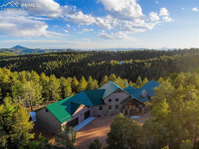 Built in 2014 and prominently situated on 35 acres near Pike's Peak and some of the most scenic private land in the country, this stunning mountain sanctuary legitimately embodies Colorado living at its finest.