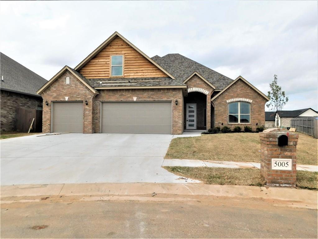 """Seller offering $5500 for upgrades or Buyer's costs. A Gem of a home in Williamson Farms, a South OKC gated community in Moore school district. Enjoy the neighborhood pools which has a family & adult only pool. The clubhouse is available for the neighborhood residents to rent for parties or gatherings. Take a stroll around the private fishing pond & area w/playground. Home is just minutes from FAA, Will Rogers World Airport, Bricktown, I-44 & I-240.  This great home is 4/3/3 w/spacious bonus room or 5 bedrooms (one bath upstairs). This open concept floor plan makes the ideal space for entertaining guests & family, lg. liv. room, corner gas log fireplace w/switch starter, cable & electrical outlet, beautiful kitchen w/island, pantry & dining area, all overlooking a the covered patio perfect for lounging. The spacious master suite has an open walk-in shower, soaker jetted tub & double vanity, 1 garage door opener, 2"""" faux blinds."""