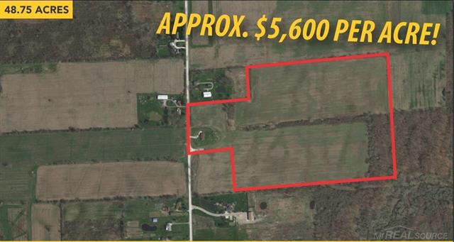 HUGE PRICE REDUCTION!! ATTN BUILDERS: Subdivision For Sale! 8 homesites. Adjacent 4 acres with brick ranch available as package sale for $450,000 to total nearly 53 acres with 451 ft frontage and 2,048 ft depth.
