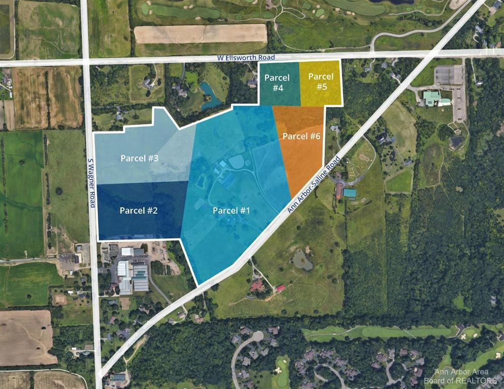 Parcel #6 - Approximately 8.34 acre lot on Ann Arbor Saline Road. Great location close to shopping, schools, I-94, Saline and downtown Ann Arbor w/ Lodi Township taxes, Ann Arbor Schools. Part of a larger 80 acre parcel. Additional acreage available.