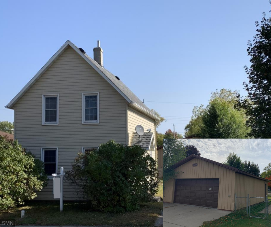 Well maintained century home, conveniently located in the heart of St. Cloud! This 2+ bedroom home has had many updates including a new roof in 2016 and a new central air unit and furnace in 2017. The main floor boasts a large living room, kitchen/dining, and laundry room. There is also a 3/4 bathroom on the main floor. Upstairs you will find 2 large bedrooms (both with lots of closet space) and a large den that would make a great office space! There is a newer 30x24 garage off the alley. This would make a great first home or an investment opportunity!