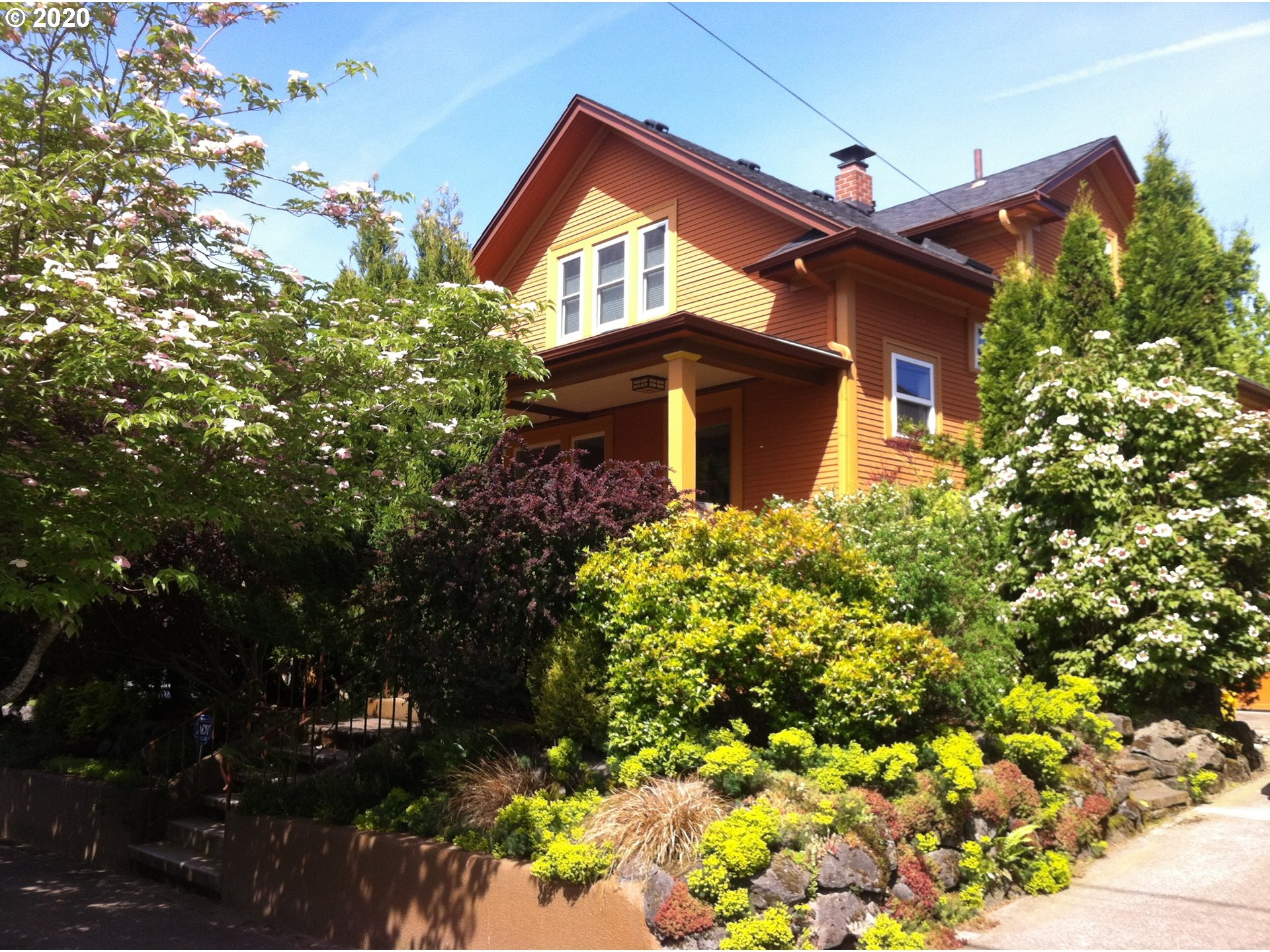 Irvington Gem! Classic 1900's PDX Craftsman, Old World Charm True-To-Era, Fabulous Curb Appeal, Large Covered Porch, Original Fir Hardwood Floors, Gourmet Kitchen, Cook Island w/SS Gas Range, Granite Counters, Skylights, Main Level Bedroom & Half Bath, Formal Dining, Custom Built-ins, Upper Level 3 Bedrooms & Full Bath w/ Claw-Foot Bathtub, Finished Basement, New Carpet, Laundry Room, Backyard Oasis w/ Raised Garden Beds. Prime Location, Close To Shops, Restaurants & Parks. Walk Score 89.