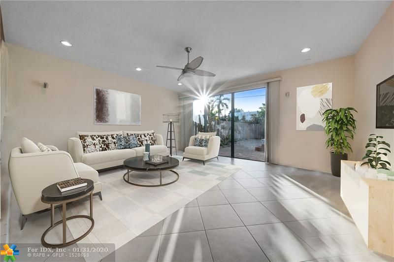"""There's not a better """"sweet-spot"""" location for a fee simple townhome in Lauderdale-By-The-Sea.   2 Bed/2.5 bathroom townhome with super low monthly HOA fee of $150. $475,000 ask.  Very recent comparable sales in same 16 unit complex are $480,000 and $505,000.  The famous """"Angler's Pier"""", 33 restaurants, Publix and the most beautiful beach entrance (El Prado) in LBTS are all less than 2 blocks from the front door.  SOARING vaulted wood ceilings.  Uncommon private backyard this close to the beach.  Very pet friendly home with a dog park right across the street.  Garage and parking."""