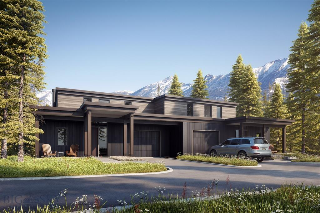 These luxurious offerings afford 5 bedrooms, 2 large living spaces with an open floor plan, and grand windows. Views include Lone Peak, the Madison Range, as well as the Spanish Peaks. The new-construction residences are designed with great attention to detail and a fusion of mountain and contemporary styles that includes 2 finish packages- both beautiful with just enough variation to be distinctive. At your Lakeview Townhome, you will enjoy ski-in/ski-out access via a new lift and ski run that takes you right from your mudroom to the Six Shooter to explore the world-class terrain of Big Sky Resort with ease. When not skiing, you can enjoy the amenities of Ulery's Lake that are steps away. Ulery's Lake Camp includes the Yurt, Moonlight Outfitters activities, and the soon to be built Lake Lodge (outdoor pool/hot tub, indoor/outdoor dining, rental/retail, climbing wall, & indoor gym). This townhome is sold unfurnished & has a Moonlight Basin Sports Membership included with the purchase.