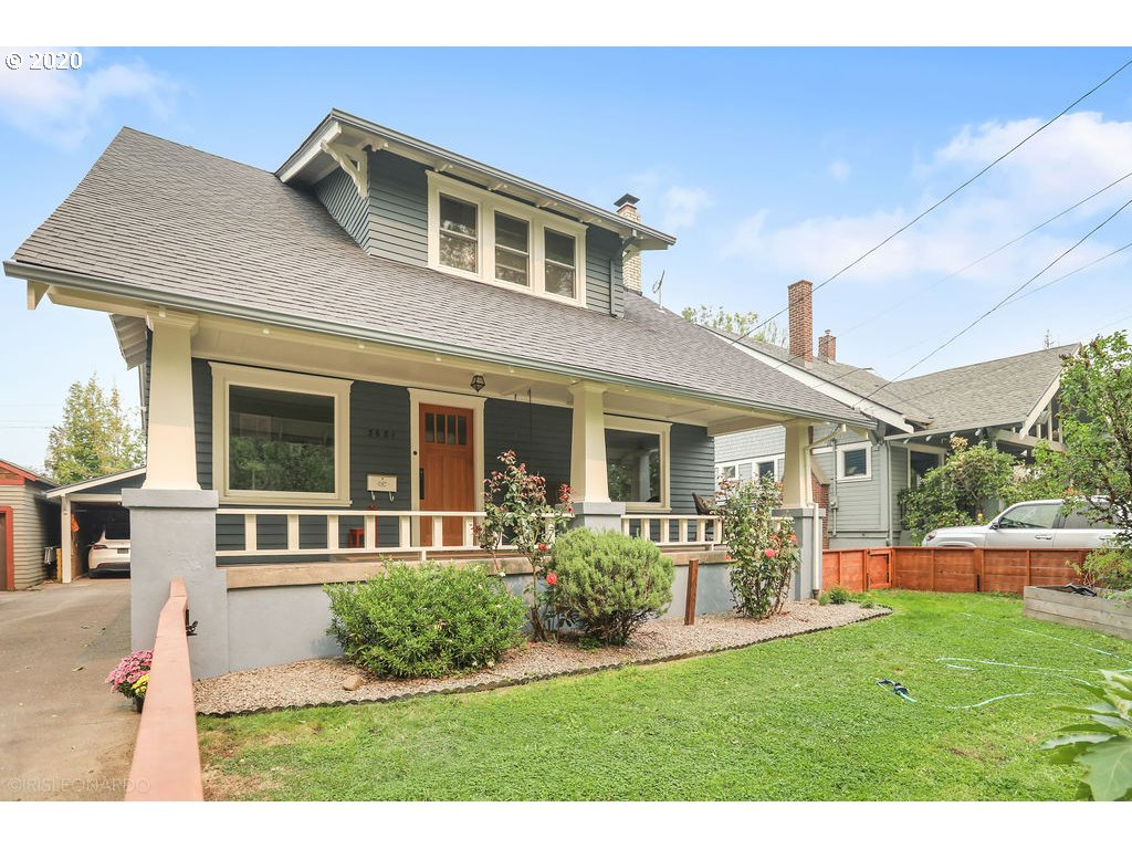 Class meets turnkey in this Laurelhurst Craftman/Bungalow. Inviting front porch & generous light filled rooms, wood fireplace, vinyl windows, cozy office, hardwood, fir & new carpeted floors. Original built-ins, crown molding, picture railing. Awesome remodeled kitchen & bathrooms. Walk-in closets in bedrooms. Bonus attic space on 3rd level. Bsmt-dark room, laundry & more. New: 200-amp elec.panel, ext.paint. Charge your Tesla w/ new 200-amp subpanel in detached two car garage. Move right in!
