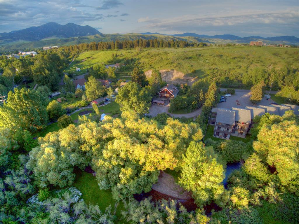 Spectacular setting! Truly a one-of-a-kind property that must be experienced. Potential for development is boundless with this 1.2 acre parcel, zoned R4, just 7 blocks from main street. Bozeman Creek runs through the property and is surrounded by old growth trees.  House and land is secluded from the street by mature bushes creating out of town privacy.  Peets hill trail system just minutes from the property, while the back end links up with the Gallagator trail system. Bogert park, where the local farmers market and several events take place is only a few blocks away. Bring your imagination and come see this unparalleled property.
