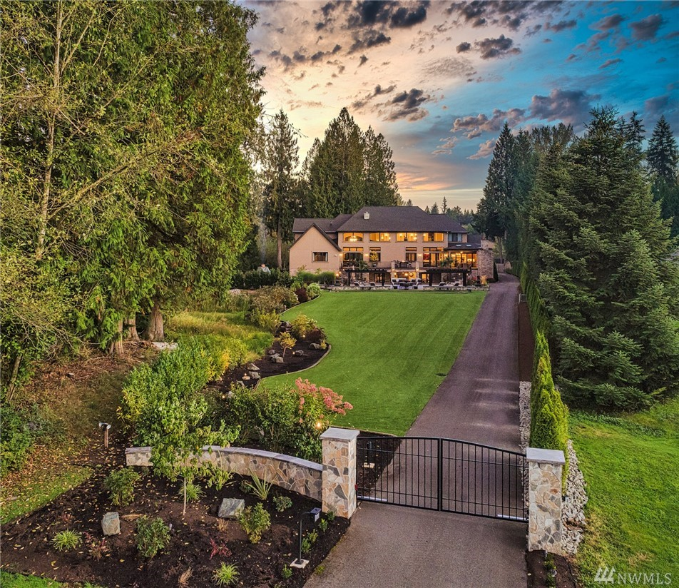 Introduced for the first time—Bear Creek Farm Retreat is a singular opportunity nestled in wine country. The pinnacle of grand elegance: double-gated entry, mature grounds, custom home, detail shop & endless amenities. Chef's kitchen; main floor primary + marble-clad ensuite; Nana walls to outdoor sunroom/kitchen, pool/jacuzzi & grounds; upper bonus w/ built-in desks; lower theater, wine cellar, bowling alley & 2nd kitchen. Herb garden; horseshoe, bocce & pickleball; golf simulator & much more!