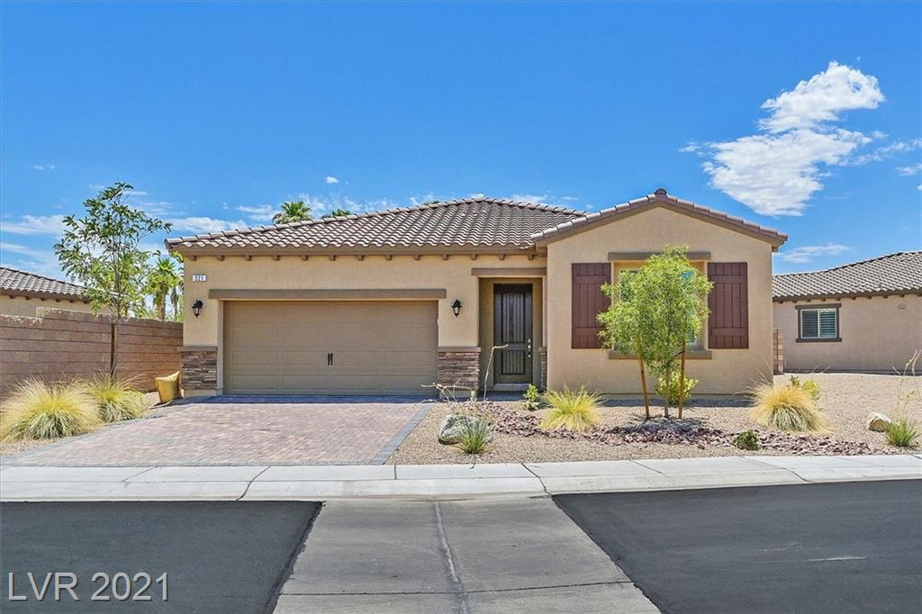 """""""RARE GEM and RARE OPPORTUNITY """"… living in a safe and spacious luxury community without the luxury price tag. This 3BR,2 Ba, 2-car garage, 1,678-sqft single-story house, is backing the Golf Course in the beautiful, scenic, and exclusive 2,000-home community of Tuscany Village in Henderson,NV.  Home is tastefully decorated and well-maintained: shows like a model. Enjoy your 'staycation', play a round of golf in the Chimera Golf course,  perfect your golf in your own backyard mini-golf course.  Walk around the neighborhood to meet your neighbors in this guard/gated community.  Use the multitude of activities in the recreation center and feel the luxurious living of a 'winner'. With many builder upgrades and homeowner improvements, this immaculate house is a """"must buy"""". Sunset is gorgeous, and the privacy from both sides of the house is absolutely a bonus. Looks and feels like a never-lived model home! Ceiling fans in all rooms, Overhead storage, tankless HWH, and fire sprinklers."""
