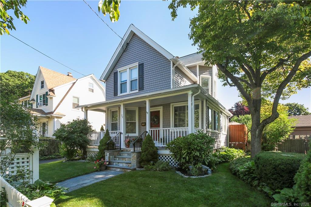This vintage 3 bedroom, 2 full bath colonial is filled with charm and pride of ownership. The allure begins as you stroll through the rose arbor and onto the welcoming front porch surrounded by mature Lilac, Wisteria, Hydrangea and more. As you enter the house you will quickly glimpse the living room with sun-filled deep windows, gas fireplace, custom built-ins, hardwood floors and recessed lighting. Make sure to peek into the bonus room suitable for office or a simply reading a good book. The updated kitchen features a center island with Jenn-Air stove, granite counters, tile back-splash, deep farm sink and built-in wine cooler. Off the kitchen, walk out to the wrap around deck. Relax and enjoy the peace/quiet of the private rear yard and the beauty of more gorgeous plantings.  The second floor features 3 bedrooms, full bath and 4th flex room perfect for nursery or office. Central Air, new vinyl siding, replacement windows, hardwood floors,  security panel, hard wired sound system and a  new driveway, The finished basement with Bilco doors, full attic, 2 bay garage and storage shed complete this fanciful home. All mechanical systems updated, ready to move right in! Convenient to school, stores and highways. This vintage 3 bedroom, 2 full bath colonial is filled with charm and pride of ownership. The allure begins as you stroll through the rose arbor and onto the welcoming front porch surrounded by mature Lilac, Wisteria, Hydrangea and more. As you enter the house you will quickly glimpse the living room with sun-filled deep windows, gas fireplace, custom built-ins, hardwood floors and recessed lighting. Make sure to peek into the bonus room suitable for office or a simply reading a good book. The updated kitchen features a center island with Jenn-Air stove, granite counters, tile back-splash, deep farm sink and built-in wine cooler. Off the kitchen, walk out onto the wrap around deck. Relax and enjoy  the peace/quiet of the private rear yard and the beauty of more 