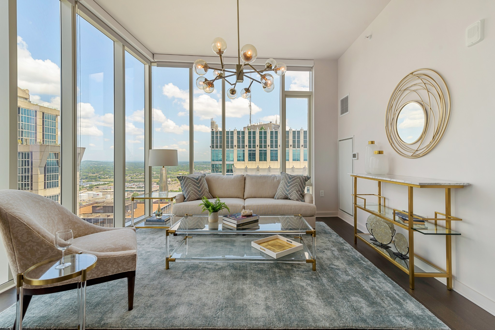 Unparalleled luxury living in Nashville's exclusive 505 building*Extraordinary floor-to-ceiling views of downtown and distant rolling hills*the highest quality construction*Spectacular amenities include resort-style pool, cabanas, tennis, Technogym fitness center, dog park, plus owners-only wine cellar and wine tasting room, lounge, dining room and catering kitchen*Located in the epicenter of all downtown activities, walk to music, theater, sports and restaurants. Walk score: 97.