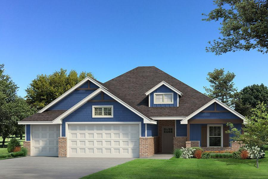 This Blue Spruce Half Bath floor plan includes 2,225 Sq Ft of total living space, which includes 1,950 Sq Ft of indoor living space and 275 Sq Ft of outdoor living space.  There is also a 585 Sq Ft, three car garage with storm shelter insatalled. Home offers 4 bedrooms and 2 and a half bath. Living Area includes fireplace and beautiful sliding barn door. Kitchen includes 3CM granite in the kitchen, decorative vent hood, upper cabinets to the ceiling, under counter lighting, and stainless steel appliances. Master Bedroom and bath include box ceiling with incandescent rope lighting, walk in master shower, Jetta Tub, and large walk in closet with 3rd row seasonal hanging. Outdoor living includes an outdoor fireplace, cable outlet, fenced backyard, and underground sprinkler system. This home also includes Smart Home Technology, air filtration system, Rinnai tankless hotwater heater, and R44 insulation help make this home energy efficient.