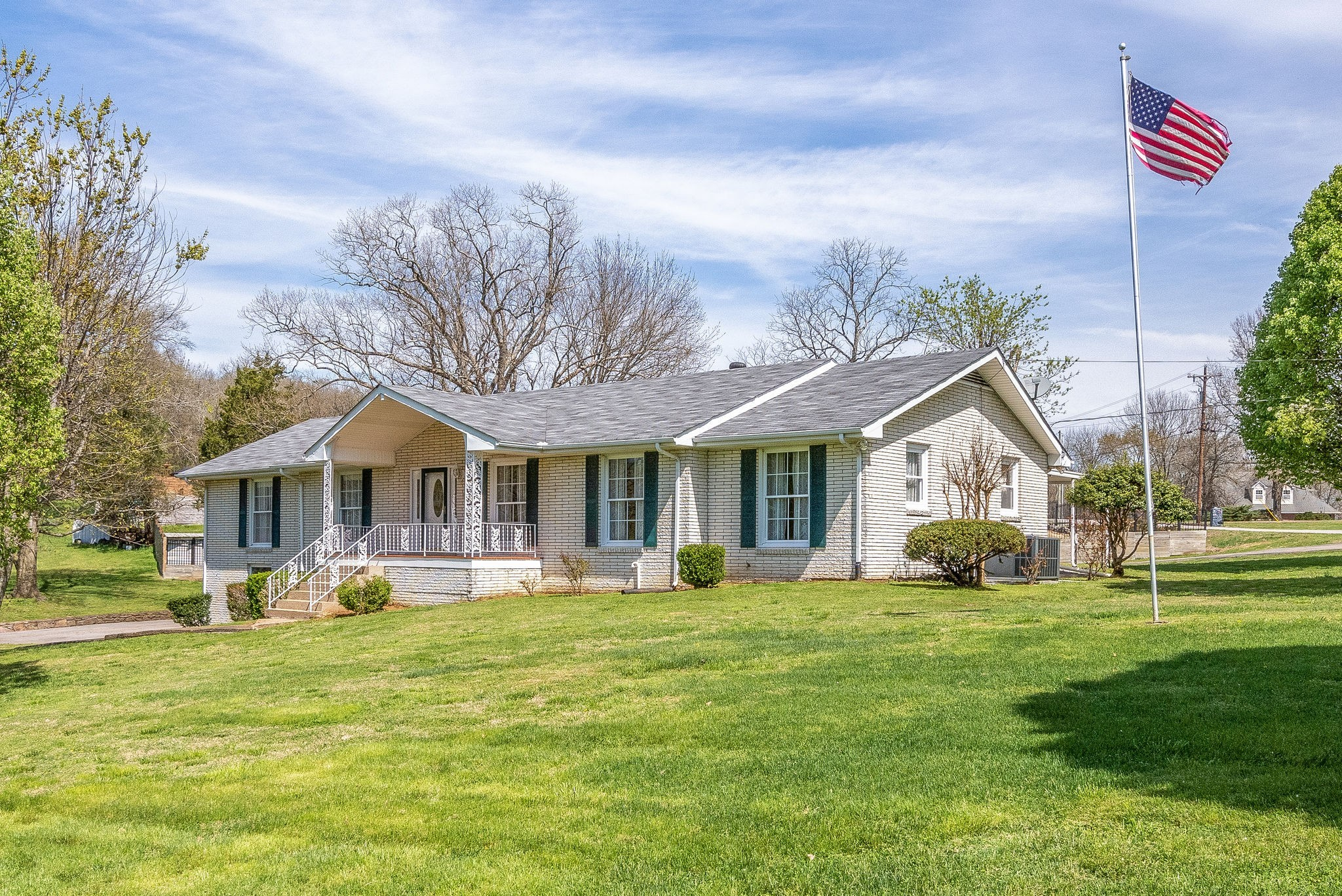SELLER OFFERING $2500 IN CLOSING COSTS! Very well maintained ranch home on a beautiful .98 acre corner lot, full basement w/ finished room & a full bathroom, large sunroom w/ attached patio, skylight in kitchen, slate floor entryway, 2 car garage.  One owner, custom built ready for your personal touch!  Just minutes from the interstate, shopping & dining!  Home is North of Rivergate.  HOME USES 2300 SPRING BRANCH RD., MADISON, TN AS THE MAILING ADDRESS!