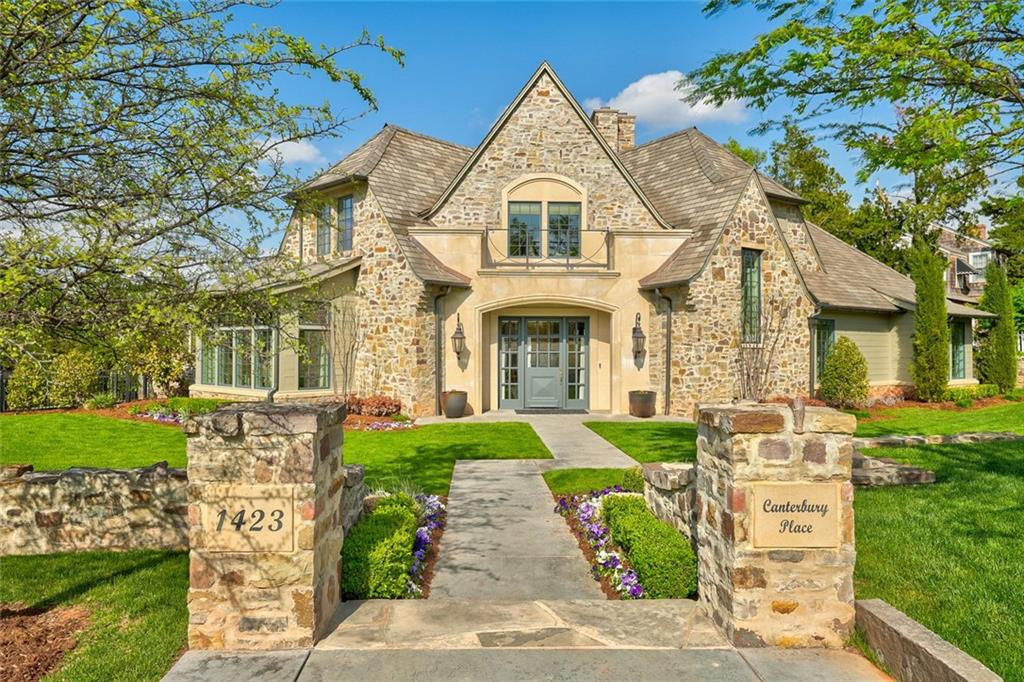 Custom Home built by the builder himself on a gorgeous corner lot! Seconds away from Kite Park, the location of this English Tutor is perfect... right in the heart of Nichols Hills.  Every detail was meticulously planned and designed during the construction of this home, and it shows.  From the stunning living space with large windows to the cozy den leading into the master, the floor plan is functional and comfortable. The kitchen features Wolfe appliances, a wet bar, and a breakfast nook perfect for entertaining friends or staying in with family. The second floor displays 3 bedrooms, a bonus room, and 2 full bathrooms, no space is wasted.  The backyard showcases an incredible pool with a waterfall feature, a masonry fireplace, and a covered patio perfect for entertaining. This home is a true gem. Call to schedule a showing before it's gone!