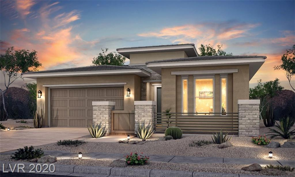 Brand New Single story in Summerlin, Beautiful Corner Home-site with great finishes throughout home, Gourmet kitchen with custom white cabinetry, large quartz island, Great space in the backyard with 15 ft. stacking sliders leading to the covered patio with a pool-sized home-site. Surrounded by one story homes. Home will be complete in June time frame!