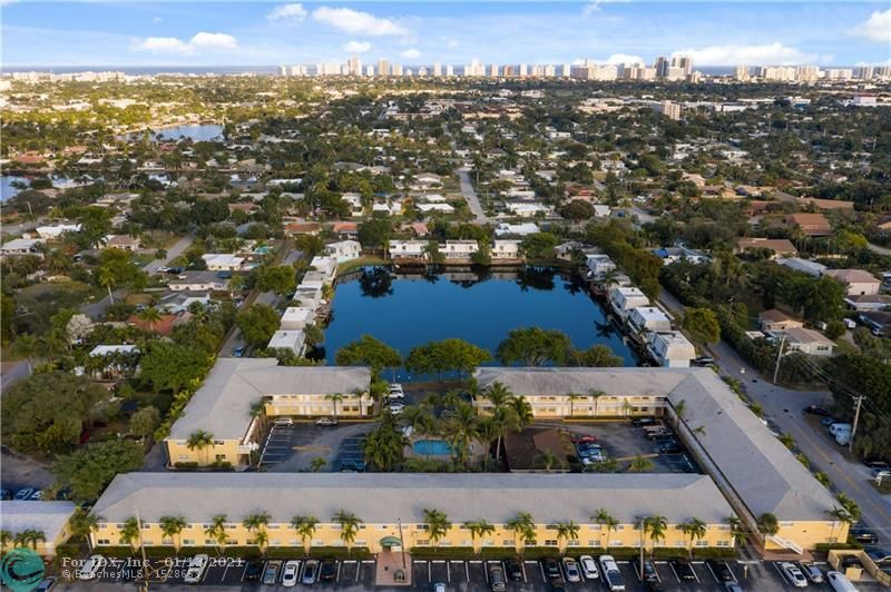 Great opportunity in East Oakland Park.  This 2/1.5 condo has updated kitchen and bathrooms with ceramic tile throughout. Newer mechanicals which include hot water heater and HVAC.  Enjoy the heated pool and clubhouse. Easy access to everything you love to do which may include walking to the Funky Buddha with your pup for a cold beer. Investor friendly with no restrictions on renting immediately and low maintenance fees.