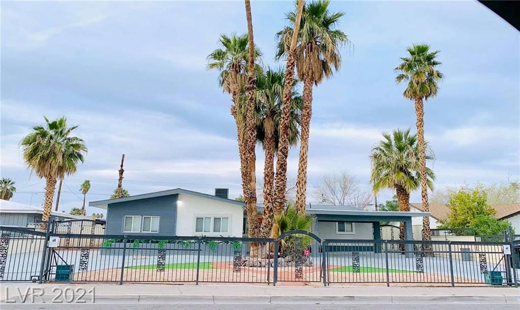 Fully remodeled 5 bedroom, 4.5 bath luxury estate between the Las Vegas Strip and Downtown Las Vegas. Garage converted to Studio with Full Kitchen and Bathroom with its own private entrance adding extra 500 SF living area. Beautiful PooL/SPA with view to the Stratosphere Hotel.