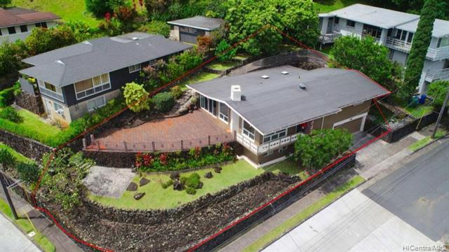 OPEN HOUSE on SUNDAY, OCT 24th from 2-5PM. This 3 bedroom 3 bath split-level home will take your breath away.  Sweeping views of the beautiful Manoa valley throughout the home. The interior features vinyl plank/tile/lava rock flooring,  granite countertops, tropical hardwood cabinets, stainless kitchen appliances, spa inspired bathrooms, walk-in master closet, and multiple covered storage areas. The lower level has separate entrance from 2 car garage that leads to a multi-purpose  family room, full bath, and laundry room.  Seller did extensive renovations in 2017-2018.  You will love the amazing views from your large stone patio.  Sit back and relax with family and friends in your gorgeous backyard. Close to schools, parks, hiking, golfing, and the University of Hawaii.  View 3D interactive video tour in virtual tour section.