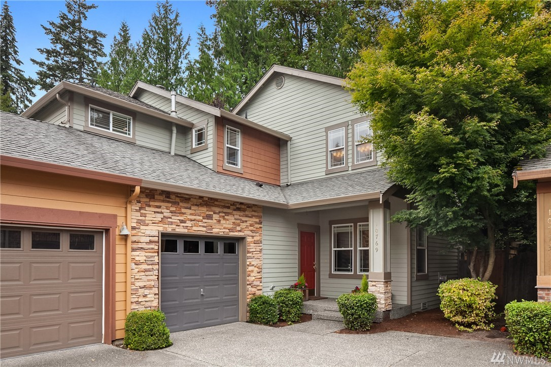 Rare 2 story home in the coveted community of Tamarack Village in Redmond Ridge! This 1754 sq ft, 3 bed, 2.5 bath townhome is turn-key ready w/ updated features, new carpets throughout, & fresh interior paint. Kitchen w/ island seating & ss appliances. Spacious master bedroom w/ 5-piece bath & huge walk-in closet. Outdoor patio, fully fenced for privacy. Extra-large 2-car tandem garage w/ room for storage. Great location! Walkable to shops, restaurants, parks, & trails! Lake WA schools!